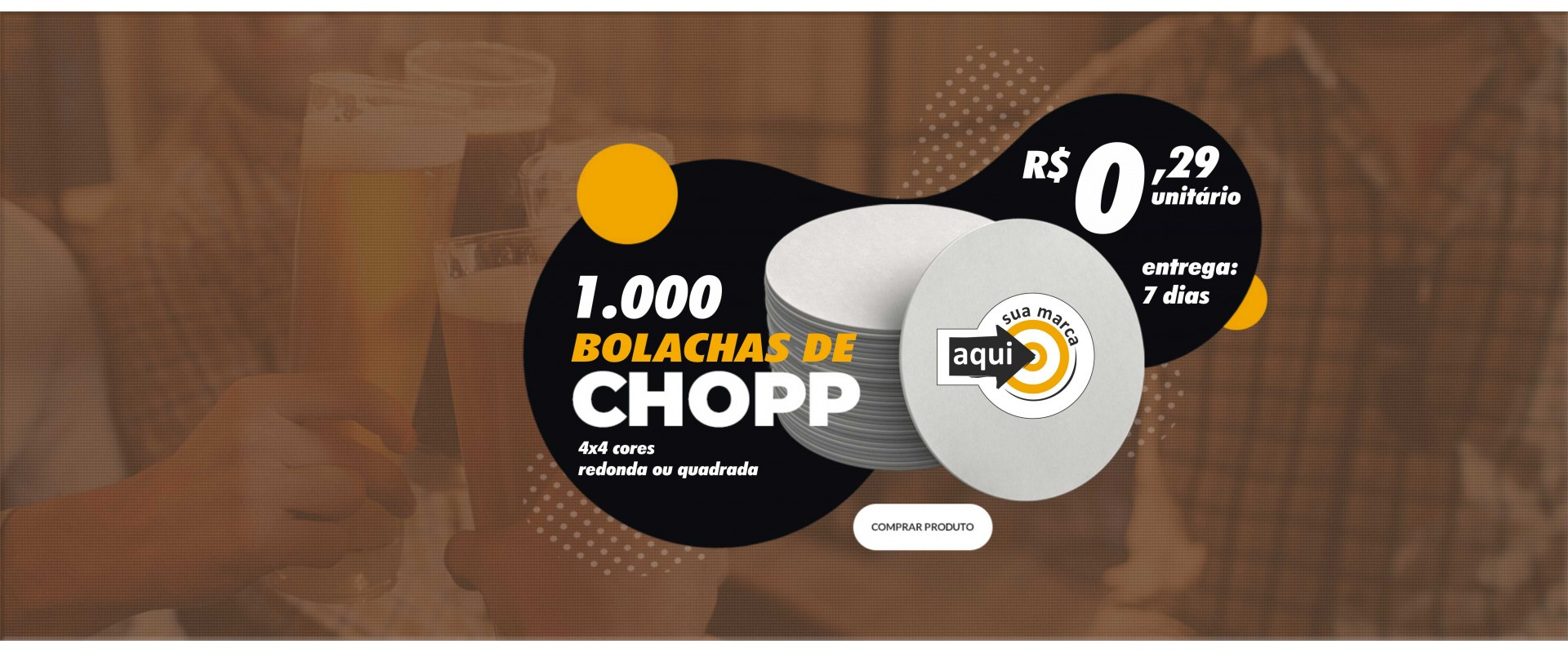 1.000 Bolachas para Chopp