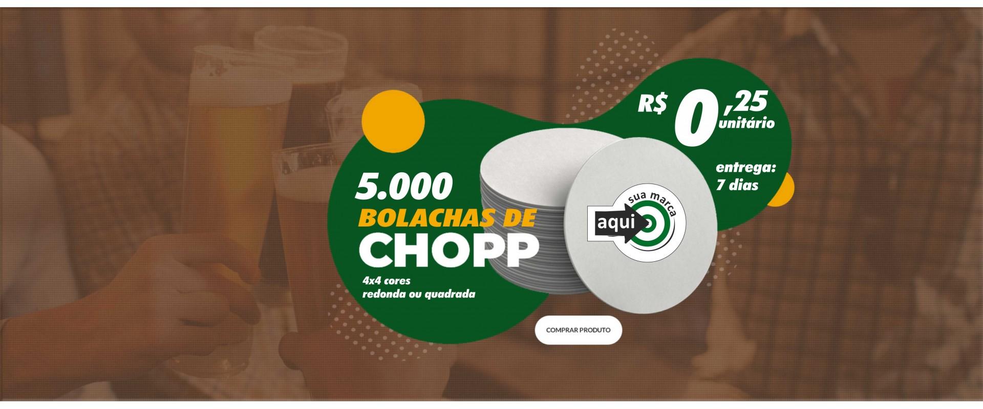 5.000 Bolachas para Chopp