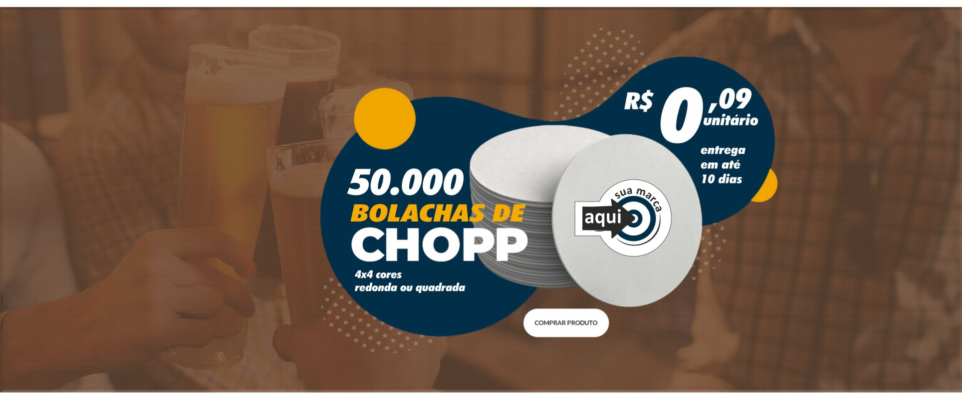 50.000 Bolachas para Chopp