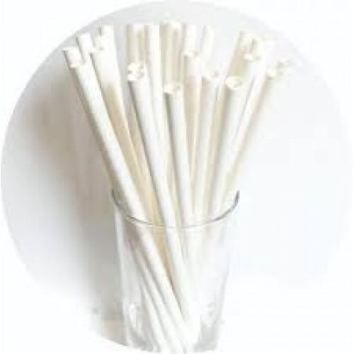 1.000 Canudos de Papel 6 mm Branco