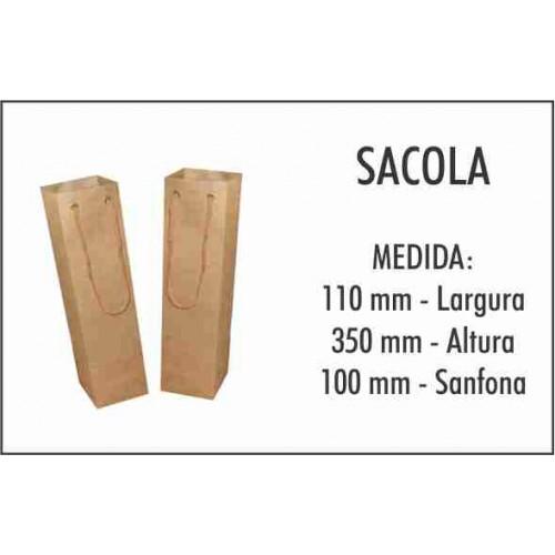 100 Sacolas para 1 Garrafa 600 ml